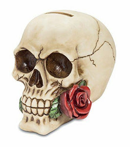 Rose from the Dead Gothic Skull Money Box 15 cm