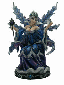 Ice Queen Winter Fairy Figurine Statue Ornament Sculpture Gift
