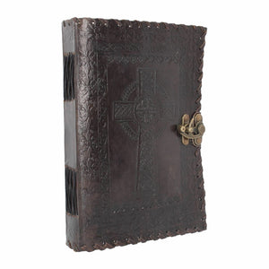 Celtic Cross Book of Shadows Leather Journal Notebook Wiccan Pagan Gift