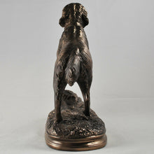 Load image into Gallery viewer, Bronze Effect Sculpture Standing Golden Retriever Dog Statue Ornament Figure