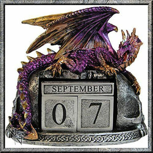Nemesis Now Purple Dragon Guardian Calendar Figurine Ornament Figure