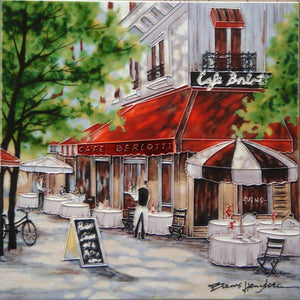 'Cafe Berlotti' by Brent Heighton, 12x12 inches Decorative Ceramic Tile