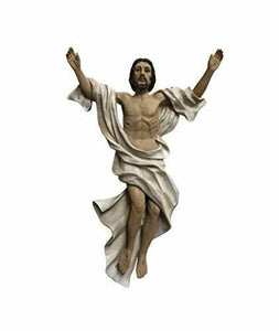 Risen Jesus Christ Resin Plaque Religious Wall Ornament Easter for Home