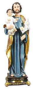 Saint Joseph with Jesus Religious Statue Sculpture for Home Church or Chapel