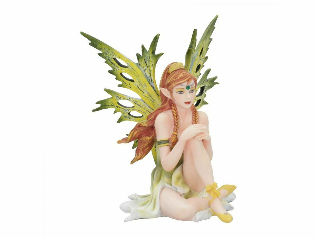 Collectable Green Fairy Figurine Ornament Sculpture Statue Fantasy Gift