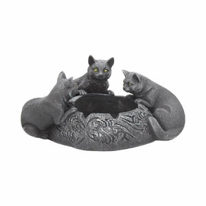 Black Cats Ashtray Wiccan Pagan Style Ornament Witchcraft Decoration Gothic Gift