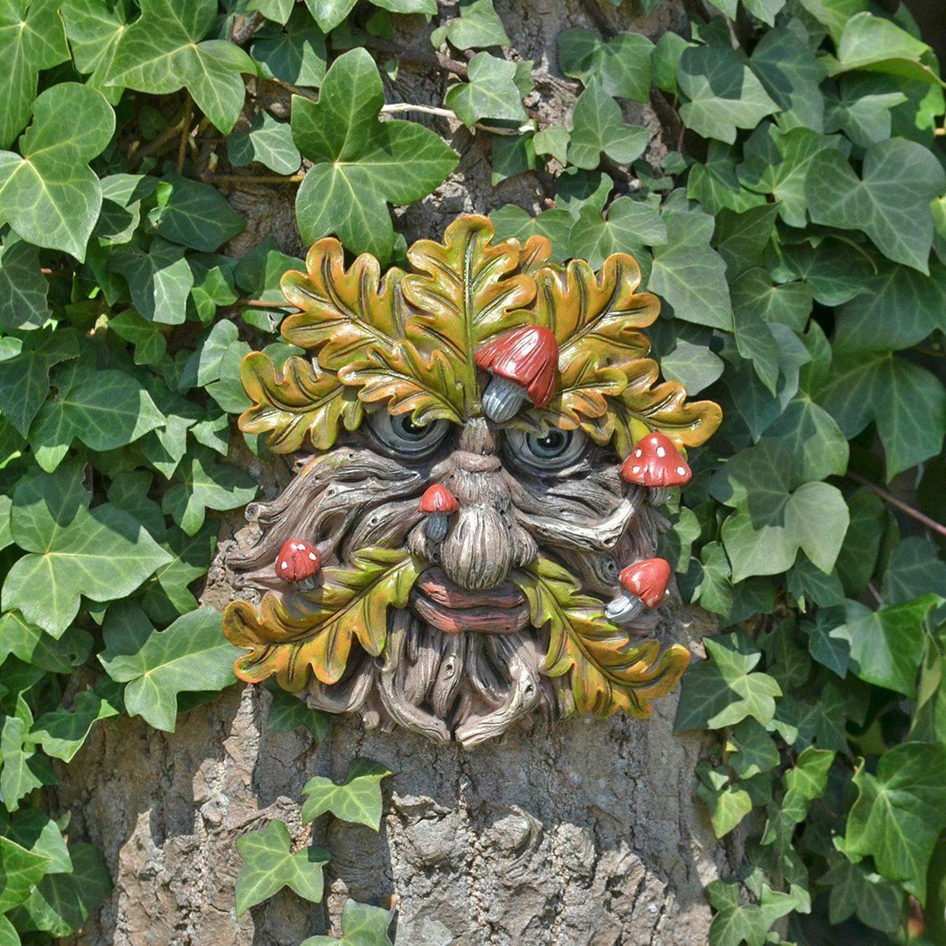 Tree Ent Face Wall Plaque Garden Ornament Greenman Wiccan Pagan Gift
