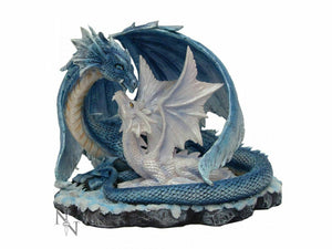Dragon Mother with Baby Figurine Statue Sculpture Ornament Fantasy Gift