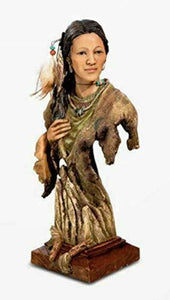 Native American Indian Woman Ornament Bust Statue Ornamental Sculpture