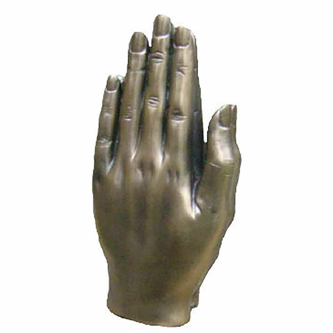 Praying Hands Sculpture Bronze Effect Miracle Prayer Religious Ornament