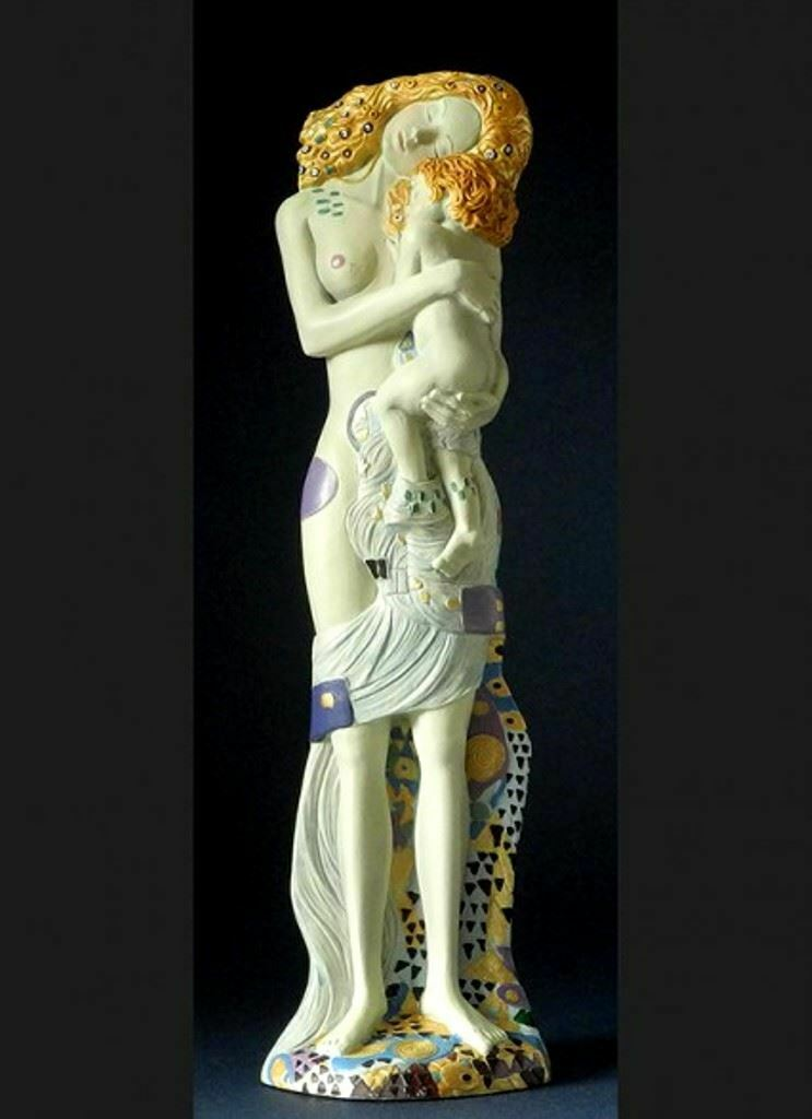 Mother and Child Statue from Three Ages Of Woman by Gustav Klimt Art Sculpture