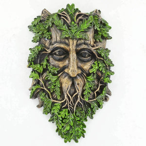 Tree Ent Face Wall Plaque Garden Ornament Wicca Celtic Pagan Greenman Ornament