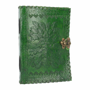 Green Man Leather Journal Book of Shadows Tree Man Wiccan Pagan Gift