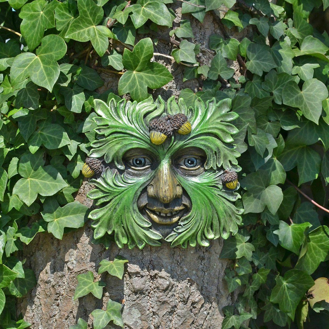 Tree Ent Face Wall Plaque Garden Ornament Greenman Wiccan Pagan Ornament