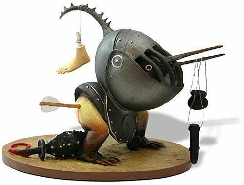 Helmeted Bird Monster Museum Reproduction Hieronymus Bosch Statue Ornament