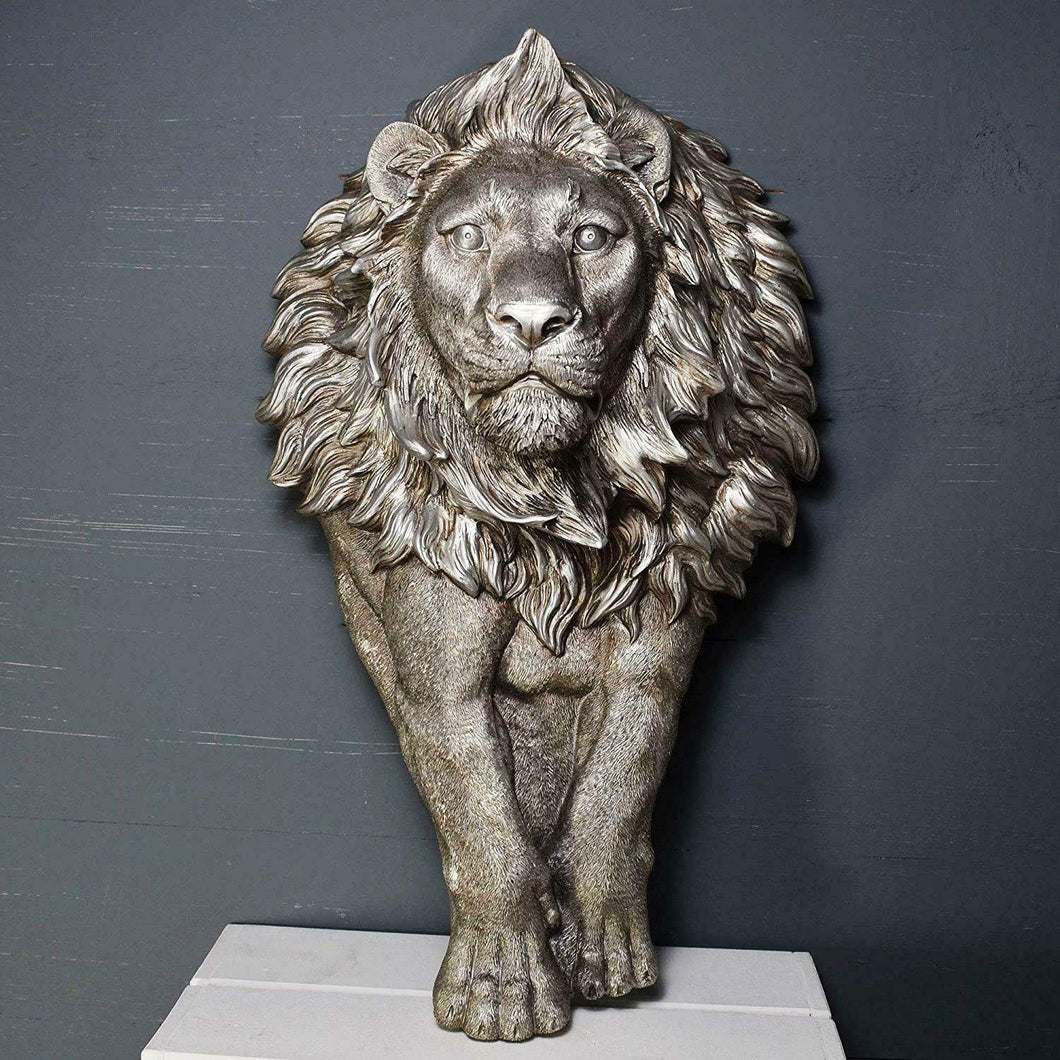 Large Lion Wall Plaque Sculpture Decoration Wild Animal Decor