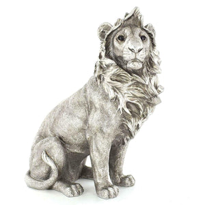 Antique Effect Lion Sculpture Statue Ornament Decoration Gift