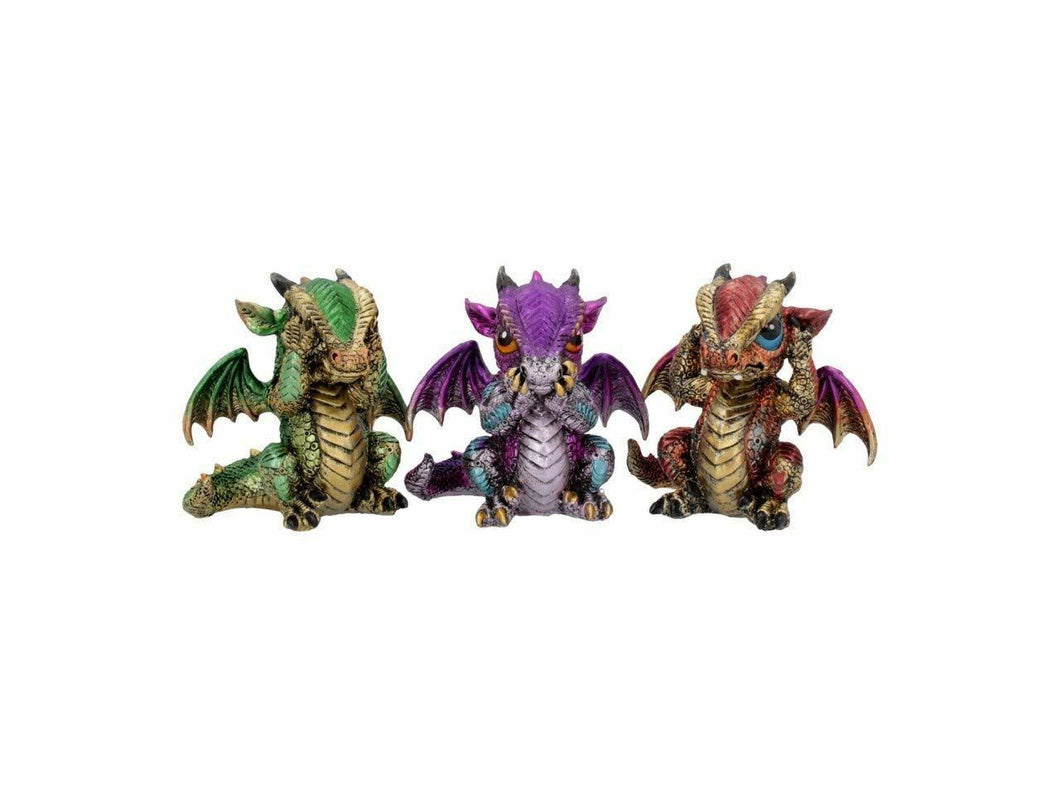 Set of 3 Wise Wiselings Fantasy Magical Mystical Ornament Figurine Statue