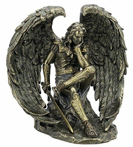 Fallen Angel Lucifer with Sword Bronze Sculpture Satan Devil