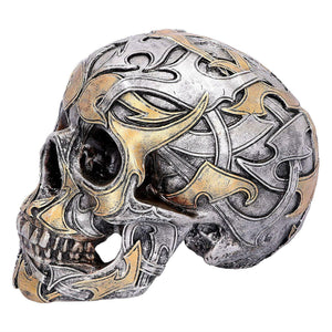 Large Tribal Skull Gothic Style Sculpture Statue Ornament