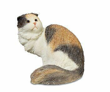 Novelty Scottish Fold Cat Figurine Kitten Pet Ornament Cat Lover Gift