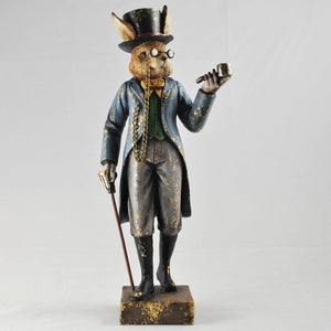 Rabbit with Pipe Statue Vintage Novelty Decor Steampunk Fantasy Dapper Animals