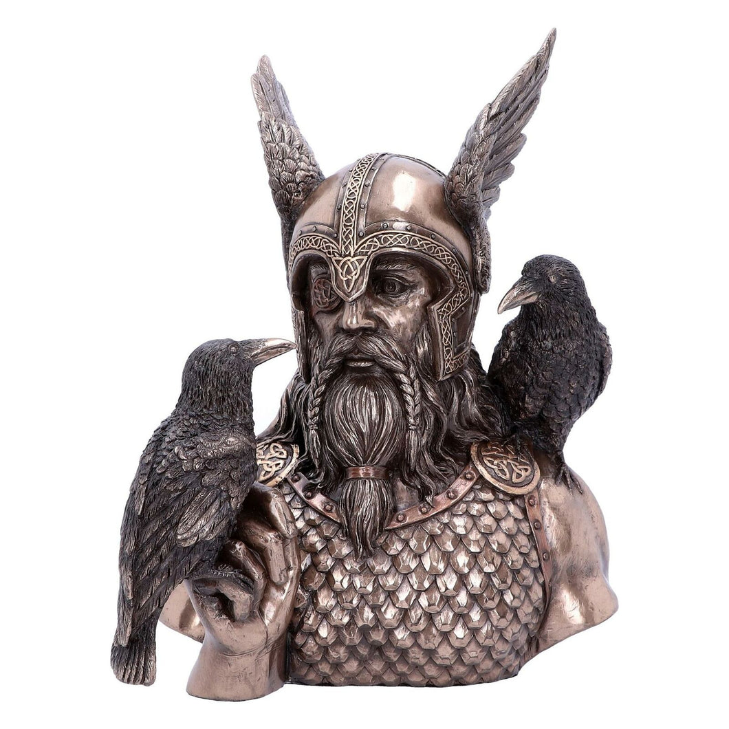 Viking God Odin Bust Norse Sculpture Statue Figure Decoration Gift