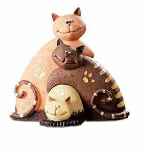 Comical Cats Family Figurine Ornament