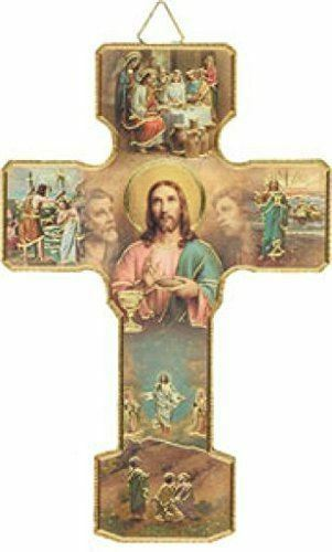 MYSTERIES OF THE LIGHT Crucifix Cross Wall Hanging Religious Ornament Catholic