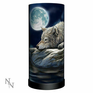 Lisa Parker Quiet Reflection Lamp Wolf Wolves Decoration
