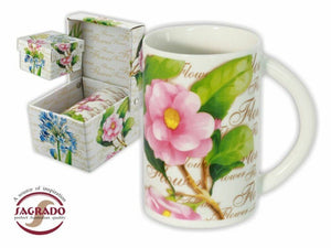 SAGRADO Mug in giftbox decorated with pink spring flower