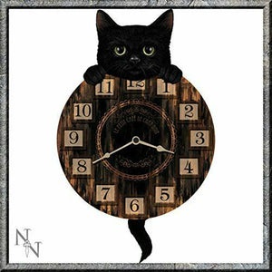 Lucky Black Cat Wall Clock Ideal Gift for Cat Lovers Home Decoration