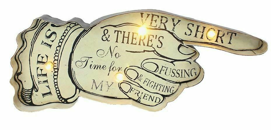 Vintage Metal 3D LED Logo Sign Lounge Wise Man Cave Decoration Wall Plaque Gift