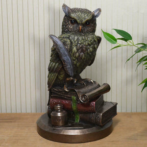 Bronze Effect Owl Sculpture Statue  Ideal Gift for Owls Fans