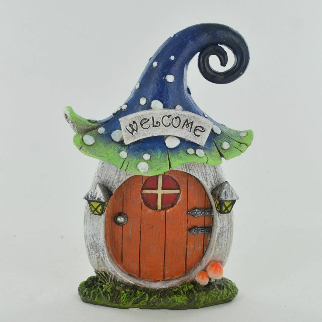 Magic Toadstool Door Small Garden Outdoor Decor Novelty Sculpture for Pixie Elf