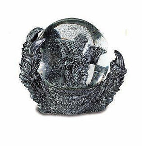 Stone Effect Dragon Claw Snow Globe Ornament Water Ball Sculpture Dragons Gift