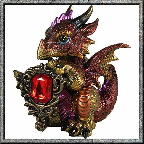 Nemesis Now Ruby Dragon Guardian of The Gem Figurine Ornament Figure