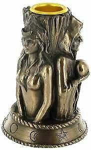 Maiden, Mother and Crone Wiccan Style Candle Holder