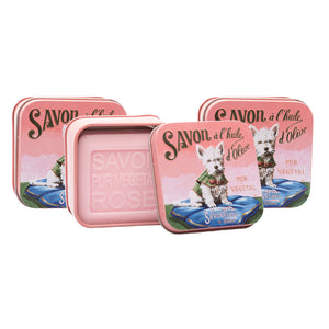 "100g Soap in Tin Box ""Chien Jack Westie"" Pack of 3"