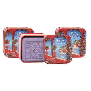 "100g Soap in Tin Box ""Côte d'Azur Rivièra"" Pack of 3"