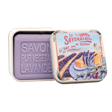 "Load image into Gallery viewer, 100g Soap in Tin Box ""Provence Lavande"" Pack of 3"