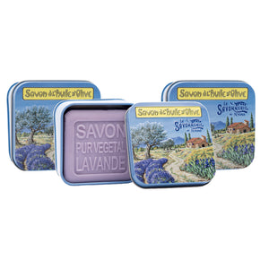 "100g Soap in Tin Box ""Provence Paysage"" Pack of 3"