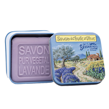 "Load image into Gallery viewer, 100g Soap in Tin Box ""Provence Paysage"" Pack of 3"