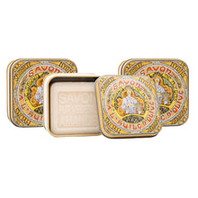 "Load image into Gallery viewer, 100g Soap in Tin Box ""Mucha #1"" Pack of 3"
