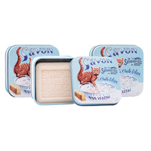 "Load image into Gallery viewer, 100g Soap in Tin Box ""Chat Roux"" Pack of 3"