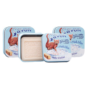 "100g Soap in Tin Box ""Chat Roux"" Pack of 3"