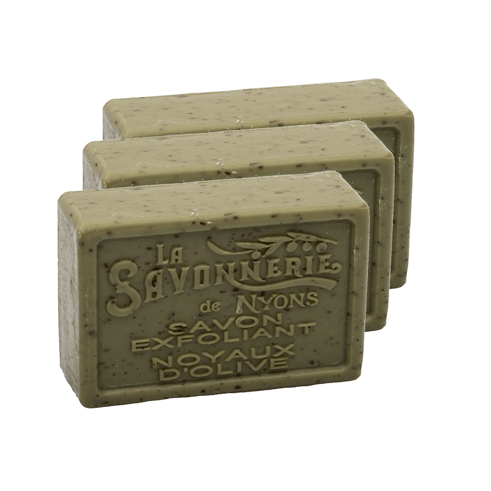 Olive Kernel Exfoliating Soap 100g - Pack of 3