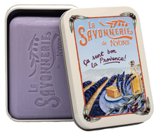 "Load image into Gallery viewer, 200g Soap in Tin Box ""Champs de Lavande"" Pack of 2"