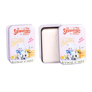 "200g Soap in Tin Box ""Chat Persan"" Pack of 2"