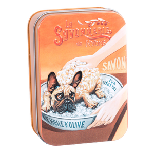 "200g Soap in Tin Box ""Chien Bulldog"" Pack of 2"